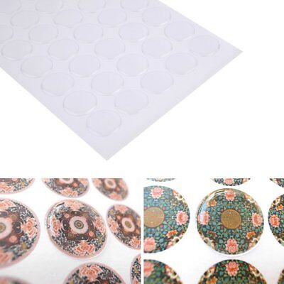 NEW! 300pcs 1 inch Transparent Dome Circle Epoxy Stickers For Bottle Cap Crafts