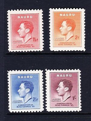 Nauru 1937 Coronation Set Sg 44-47 Mnh.