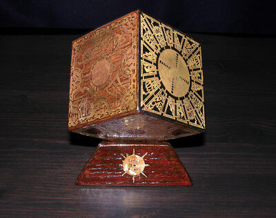 Hellraiser Puzzle Box Lament Configuration Solid hardwood Aged Etched Brass