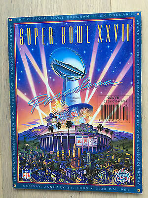 Super Bowl XXVII 27 NFL Programme Bills Cowboys