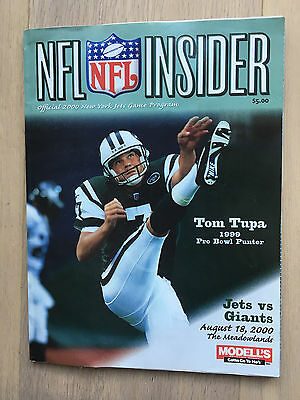NFL Insider New York Jets v Giants August 2000 Programme