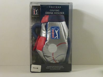 Pga Tour Insulated Golf Bag Drink Holder With Clip New In Box