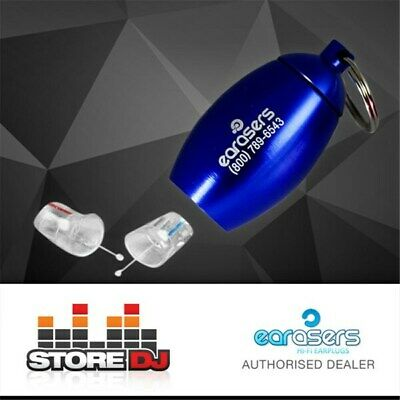 EARasers Musician's HiFi Earplugs w/ Keyring (Small) (Blue Canister)