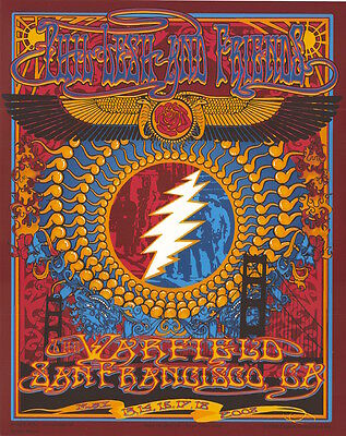 MINT Phil Lesh & Friends 2008 Warfield San Francisco Biffle Poster