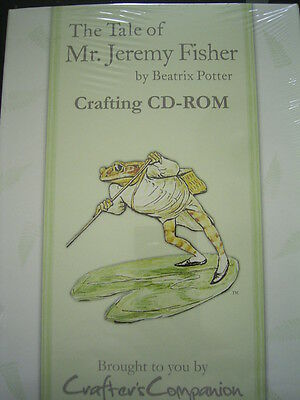 Mr. JEREMY FISHER by BEATRIX POTTER Crafting CD Rom x Crafters Comp