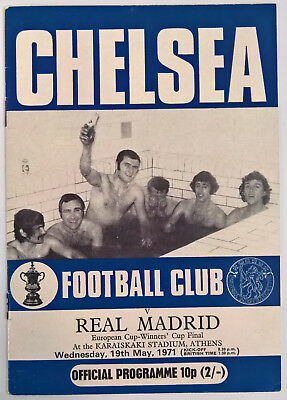1971 Chelsea v Real Madrid - CFC edition. ECWC Final. Mint.