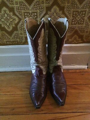 vintage cowboy western mexican style unbranded mens boots sz 9.5? gay interest
