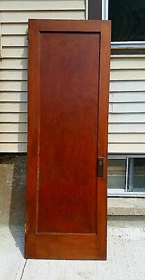 Antique Single Pane Interior Solid Wood Pocket Closet Pantry Door