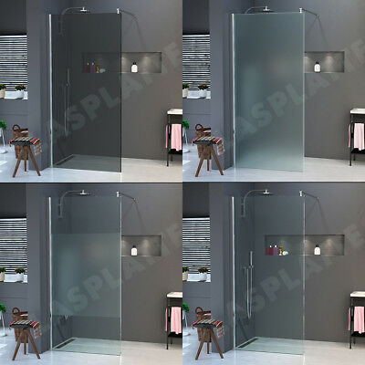 Walk in shower wall partition curtain NANO Real glass ESG 10mm