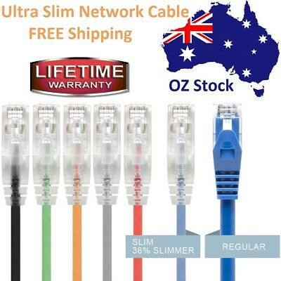 Ultra Slim Network Cable CAT6 RJ45 / Lifetime Warranty / 6 Colors / Tangle Free