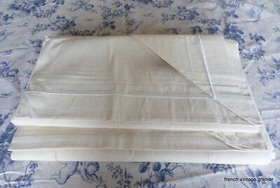 Metis Linen dble Sheets / Curtains SET 2  French Vintage UNUSED REDUCED PRICE !!