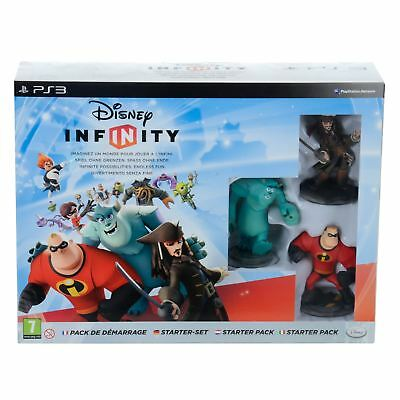 Disney Infinity 1.0 Starter Pack Sulley Mr Incredible Jack Sparrow Game Toy PS3