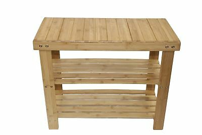 Down Under Bamboo Small Bench with Shoe Storage