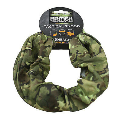BTP Camo Tactical Snood Army Military Neck Warmer Mask Hat Headover Balaclava