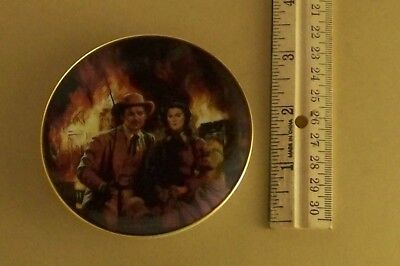 Gone With the Wind Golden Memories THE BURNING OF ATLANTA Mini Plate #2 Movie