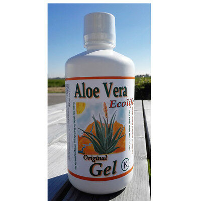 Aloe Vera Pulp 1000ml - double strength - maximum health - 25 days bottle - pure