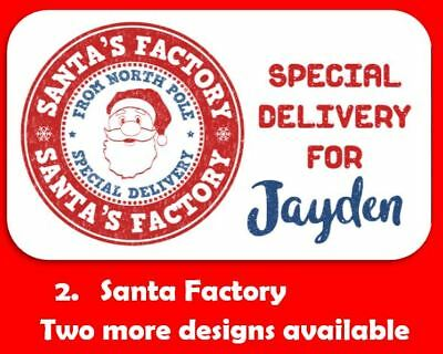 42 Personalised Red Blue Christmas Gift Tags Present Stickers From Santa Labels