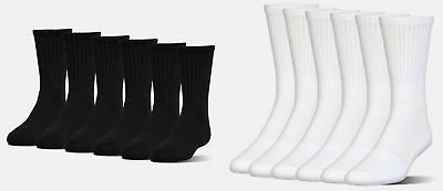 Under Armour Men's UA Charged Cotton 2.0 Crew Socks 6 Pack of Crew Socks