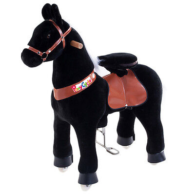 BLACK BEAUTY PONY CYCLE - Medium Size - Ride On Horse for 4-9 Years