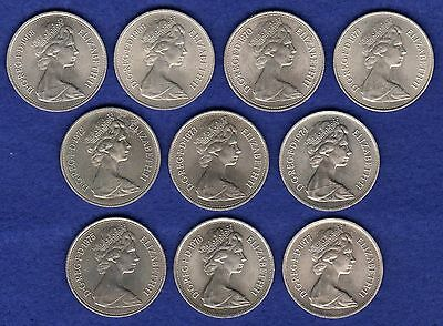 GB, 10p, 10 Pence Coins, Date Run 1968-77, x10 Coins, Nice Grade (Ref. t0730)