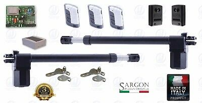 Electric gate opener, 300kg/3.5m, set, 2 years warranty. 3 Remote MADE IN ITALY