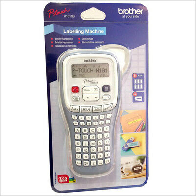 Brother P-Touch H101C Handheld Labelling Print Machine + Batteries + tape-NEW