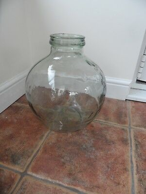 vintage glass carboy / terrainium  14 inch tall