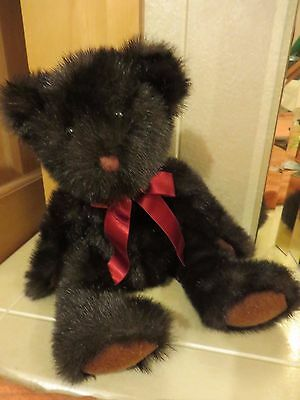 Original Vintage 1990's Russ Dickens Dark Brown Bear