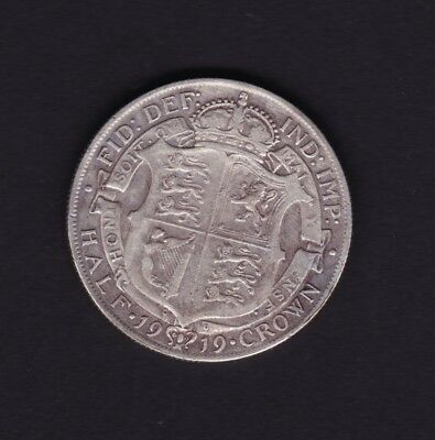 1919 Great Britain UK George V Half Crown Silver Coin