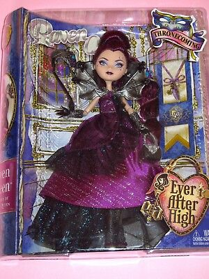 """Mattel - Ever After High - Thronecoming Raven Queen 10"""" Fashion Doll - NRFB"""