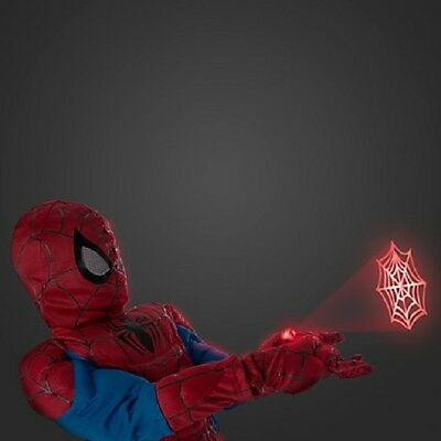 NWT Disney Store Spider-man Ultimate Costume Light-Up-Web-Shooters Kids size 4
