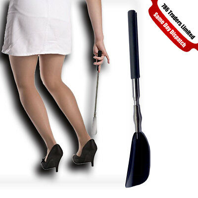 New Shoe Horn Stainless Steel Shoe Boots Horns With Expandable Handle Tool