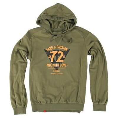 Dainese 72 & Passion Mens Hoody Sweatshirt Military Green