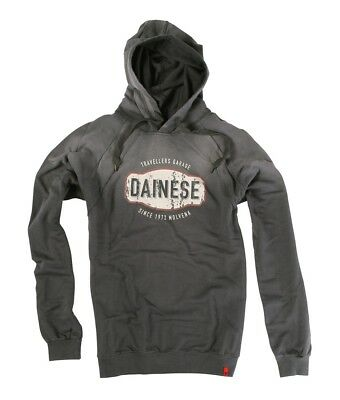 Dainese Garage Mens Hoody Sweatshirt Anthracite Gray