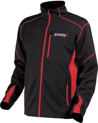 FXR Elevation Mens Tech Zip Up Sweatshirt Black/Red