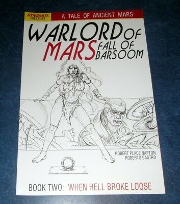 WARLORD OF MARS fall of barsoom #2 1:15 JOE JUSKO B/W sketch variant DYNAMITE NM