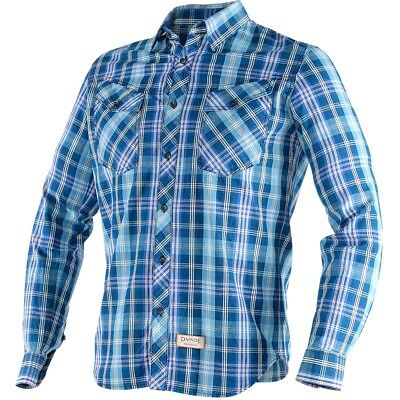 Dainese Allen Mens Button Down Shirt Blue/Sky Blue