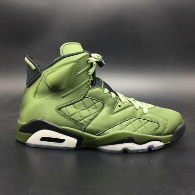 0c343966157 Nike Air Jordan 6 Pinnacle Palm Green Retro SNL Flight Jacket Satin AH4614  303