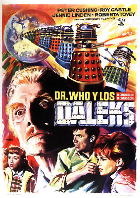 Dr Who Daleks Job Lot Set Of 4 Vintage Movie Posters Laminated 11 X 8 Inch