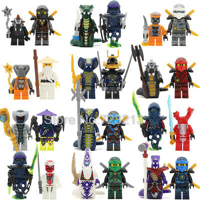 New 2017 Lego Compatible Ninjago Collectible Minifigures Complete Set of 24 Pcs