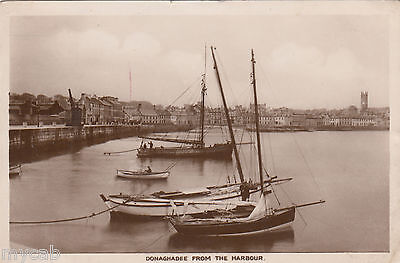 Postcard Donaghadee County Down Northern Ireland view From The Harbour old RP