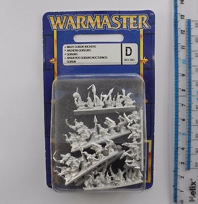 Warmaster NIGHT GOBLIN ARCHERS a Metal Orcs Goblins Army Blister Pack 1999 K305