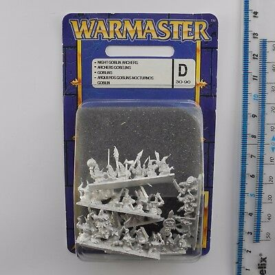 Warmaster NIGHT GOBLIN ARCHERS c Metal Orcs Goblins Army Blister Pack 1999 K307