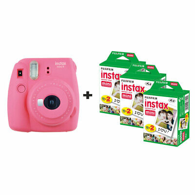 Fujifilm Instax Mini 9 Instant Camera with 60 Shots - Flamingo Pink
