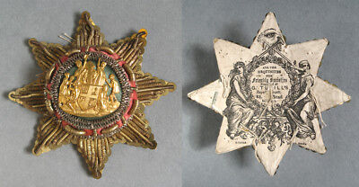 Loyal Order Of Ancient Shepherds Embroidered Badge G. Tutill London C.1900