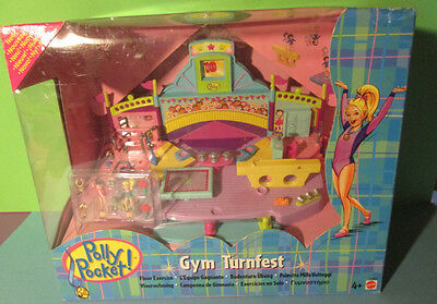 Polly Pocket Mini NEU ♥ Gym Turnfest ♥ Magnet Turnwelt ♥ OVP ♥ 1999 ♥ NEW ♥ RAR