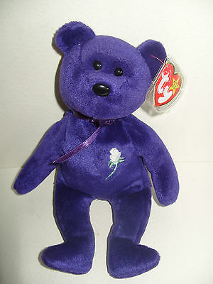 Ty Beanie Baby Bear Princess First Edition Made In Indonesia - Mint - Retired