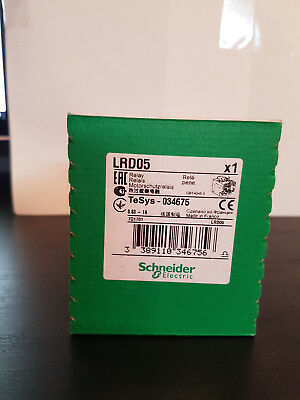 Schneider Lrd05 Overload Relay .63A-1A *new In Factory Box*