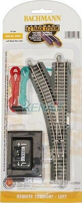 """Bachmann N Scale E-Z Remote Turnout - 11.25"""" Radius Curved Track Left Hand 44861"""