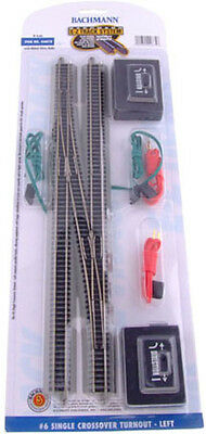 N Scale E-Z Track System #6 Single Crossover Turnout - Left Hand Bachmann #44875